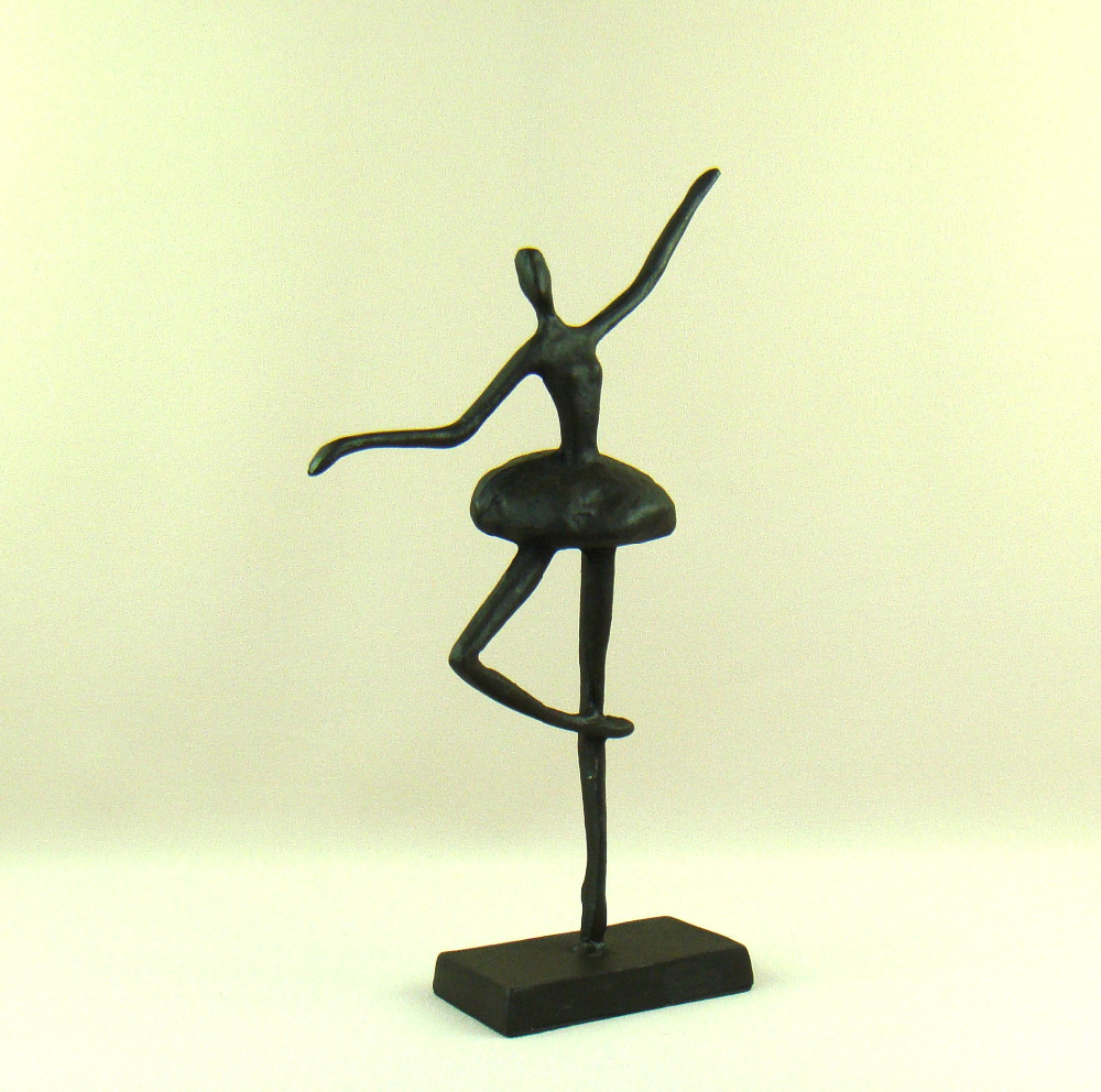 Abstract Metal Ballet Dancer Sculpture Handmade Cast Iron Ballerina ...