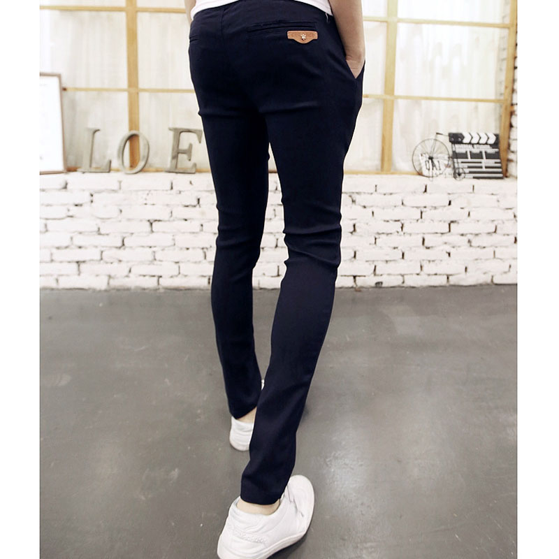 Top quality 2019 Fashion Elastic Waist Drawstring black pencil pants men Casual joggers pantalon homme hip hop teenager trousers in Harem Pants from Men 39 s Clothing