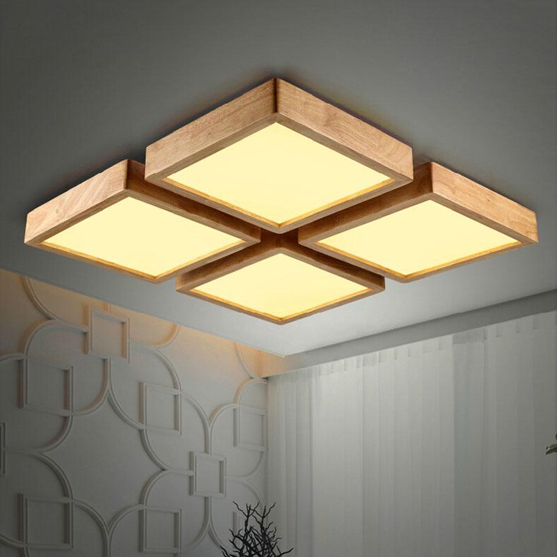 Neue Kreative EICHE Moderne Led Deckenleuchten Fr Wohnzimmer Schlafzimmer Lampara Techo Holz Deckenleuchte