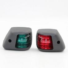 1 çift Kırmızı Yeşil LED Sinyal Lambası Mini navigasyon ışığı 12V tekne Yat