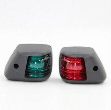 1 par Verde Vermelho Lâmpada de Sinal LED Mini Luz de Navegação para 12V Barco Iate Marinho