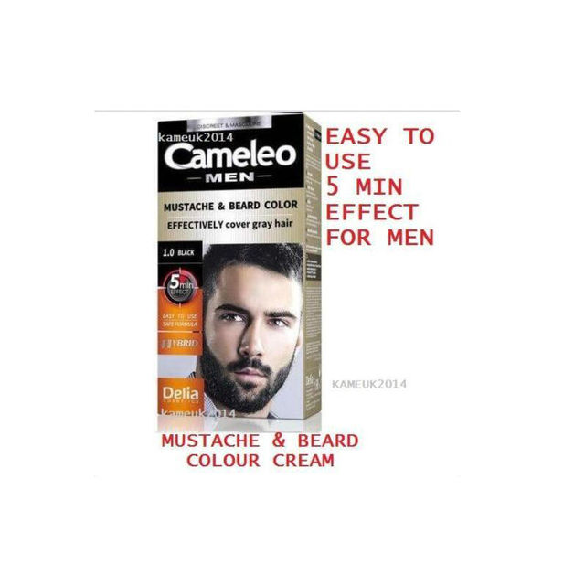 Cameleo Men Color Cream Mustache & Beard Color Effectively Cover ...