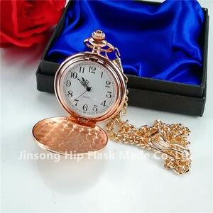 Image 5 - 디아 4.5cm 일반 크롬 포켓 시계 선물 상자 포장 블랙/은색/황금/청동
