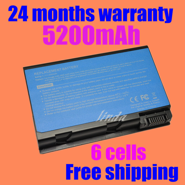 Jigu batería del ordenador portátil para acer aspire 3100 3103 3690 5100 5101 5102 5110 5610 5630 batbl50l8h bt.00803.015 lc. btp01.017 batbl50l6