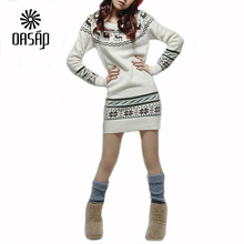 OASAP Women Sweaters Deer Printing Knitted Sweater Women Sweaters and Pullovers Korean Style Ladies Sweater Women