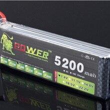 2pcs/lot LION POWER Brand 7.4V 5200mAh Factory wholesale mod
