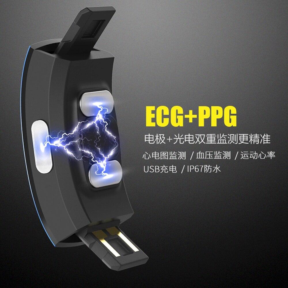 Hangrui P3 Heart Rate Tracker PPG ECG Smart Bracelet Blood Pressure Fitness Tracker Wristband Waterproof Sport Watch Wrist band (44)