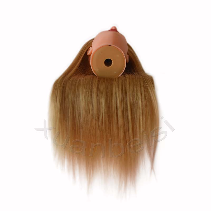 65CM 100% High Temperature Fiber Blonde Hair Training Mannequin Doll Head Practice Training Head Hairdressing For Sale Dummy