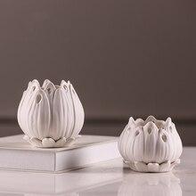 Creativity White Petal Ceramic Flowerpot Simple Modern Small Vases Desktop Furnishings Wedding Home Decoration Accessories 38