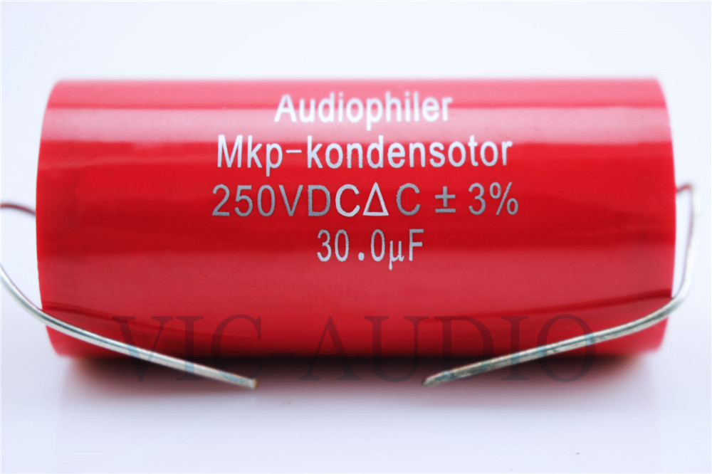1Piece Audiophiler MKP Kondensotor 250VDC 30uf 3% Audio Capacitor Amplifier HIFI Frequency Divider Capacitance Free Shipping