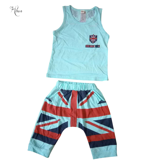99a377198 Inafnt Sets Baby s Casual Vest Shorts Suits Boy Girl Two Piece ...