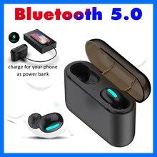 Bluetooth наушники V5.0 + EDR Спорт Мини СПЦ наушники с 1500 mAh Зарядное устройство чехол Q32 Беспроводной наушники для мобильного телефона