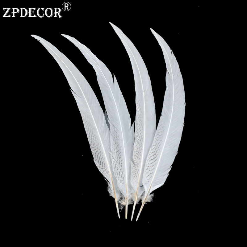 60-65 CM 24-26 Inch Silver Pheasant Tail Feathers Color can be custom60-65 CM 24-26 Inch Silver Pheasant Tail Feathers Color can be custom