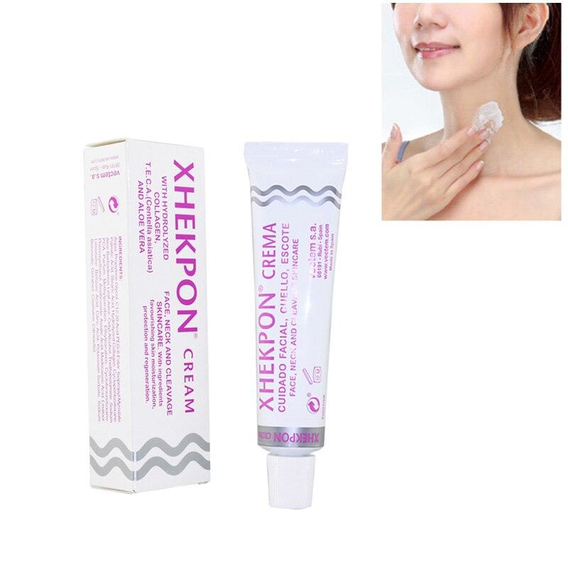 Xhekpon Crema facial y Cuello 40 ml escote Crema arrugas suave Anti envejecimiento Crema