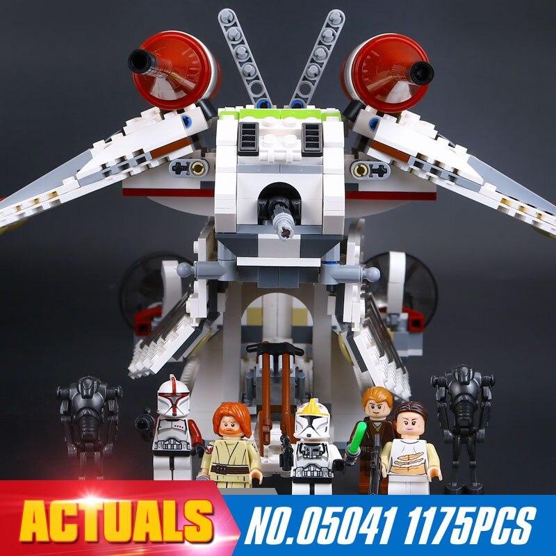 ФОТО NEW LEPIN 05041 Star Wars 1175pcs Coruscant Police Gunship Compatible 75046 Boys Gift Development of intellectual toys