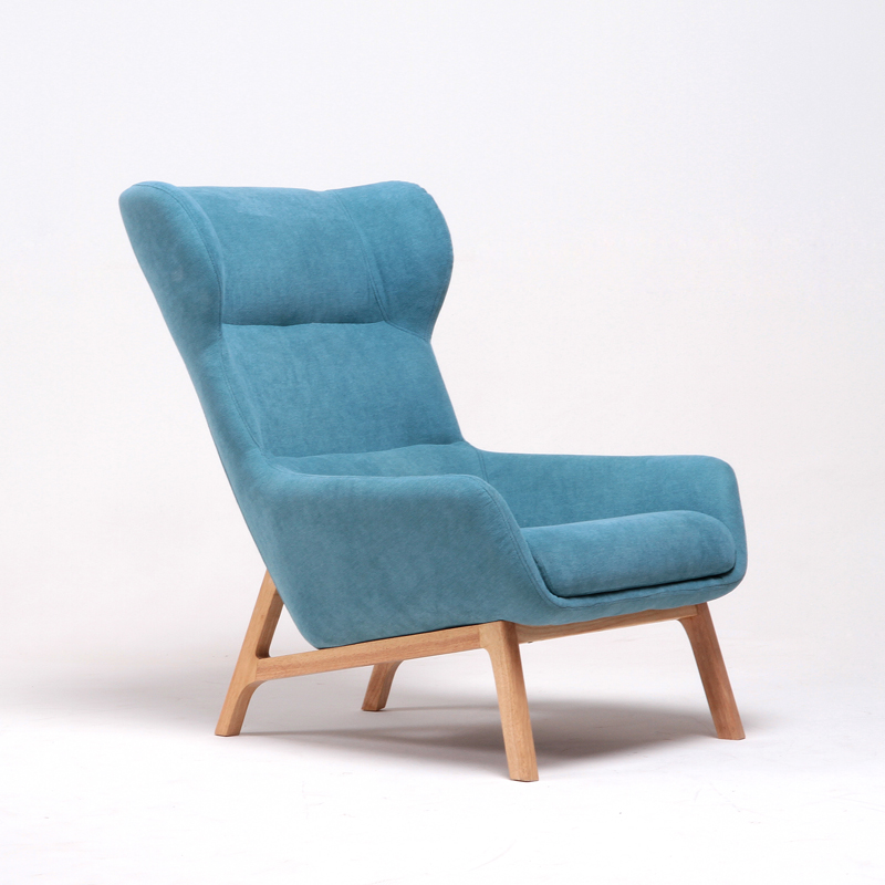 Mid Century Modern High Wingback Fabric Upholstered Living Room Accent Chair Furniture Luxury Home Armchair Wing Chair Lounge mid century presidential solid oak wood dining chair armchair upholstery seat dining room furniture modern arm chair for home