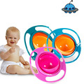 2017 Practical Design Children Kid Baby Toy Colorful Universal 360 Rotate Spill-Proof Bowl Dishes Free Shipping