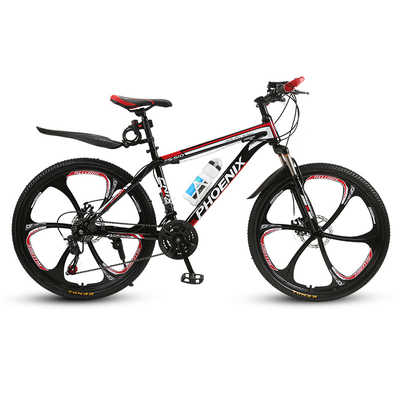 Phoenix Adult Shock Mountain Bike 27 Speed Double Disc Brakes For Men And Women Students Off-road Bicycle