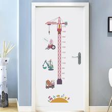 Self-adhesive Height Measuring Ruler Growth Chart Animal Cartoon Tower Crane Children Room Decor