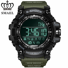 2017 smael marca digital smart watch hombres deporte de la manera bluetooth inteligente reloj electrónico llevado impermeable relojes relogio masculino