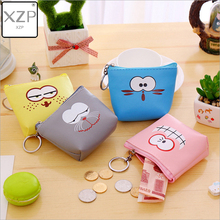 XZP Cat Coin Purses Women Wallets Small Cute Cartoon Animal Card Holder Key Bag Money Bags for Girls Ladies Purse Kids Children veevanv animal wolf printing case holder casual pencil purse cute animal purses kids wallets school case for student pencil bags