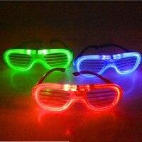 Blinking LED Shutter Eye glasses Party Light Up Flashing Novelty Gift Glow Eye Mask Halloween Christmas