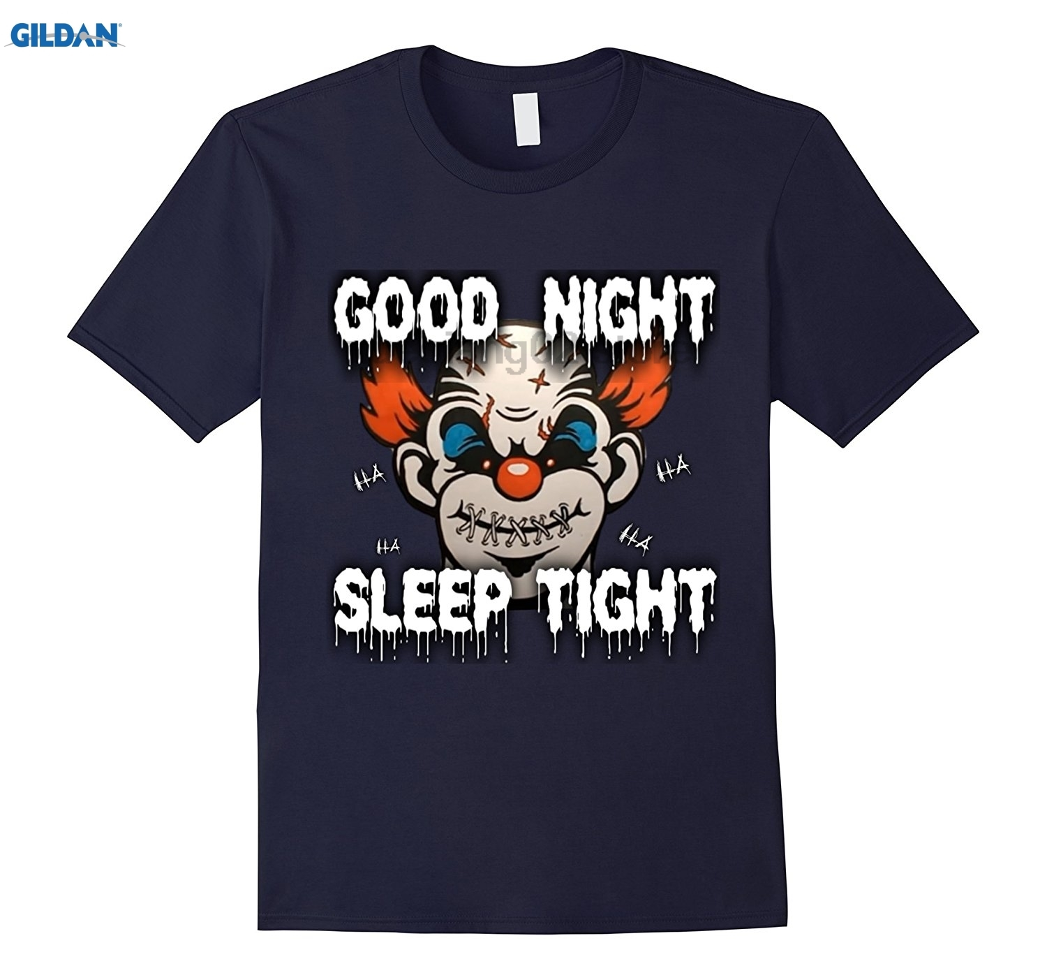GILDAN COOL GIFT GOOD NIGHT SLEEP TIGHT SCARY EVIL CLOWN T-SHIRT