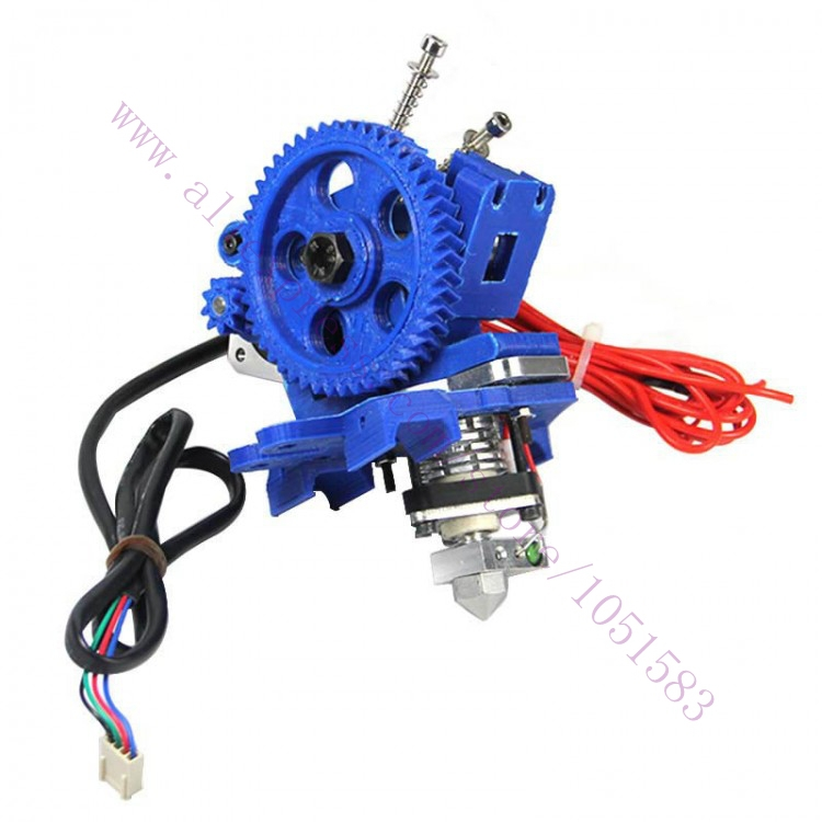 3D Printer RepRap Stepper Extruder with Hot End Connection Assembled,1.75 / 3mm Filament ABS/PAL , 0.3/0.4/0.5mm Nozzle Optional anet a6 a8 reprap 3d printer full acrylic assembly diy 3d printer kit with auto sensor 1roll filament sd card filament holder