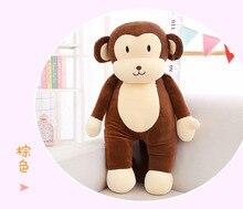 new soft plush monkey toy cute brown cartoon mokey pillow gift about 60cm 0103
