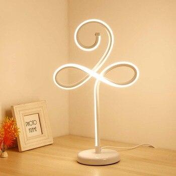 24 Wát Modern Novelty Đèn Bàn LED cho Phòng Ngủ Living Room Wedding Nghệ Thuật Trang Trí Bàn Cạnh Giường Ngủ Lamp Đèn Chiếu Sáng Vàng trắng