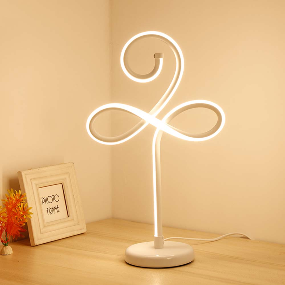 24W Modern Novelty LED Desk Lamps for Bedroom Living Room Wedding Art Decor Bedside Table Lamp Light Fixtures Gold White fumat stained glass table lamp high quality goddess lamp art collect creative home docor table lamp living room light fixtures