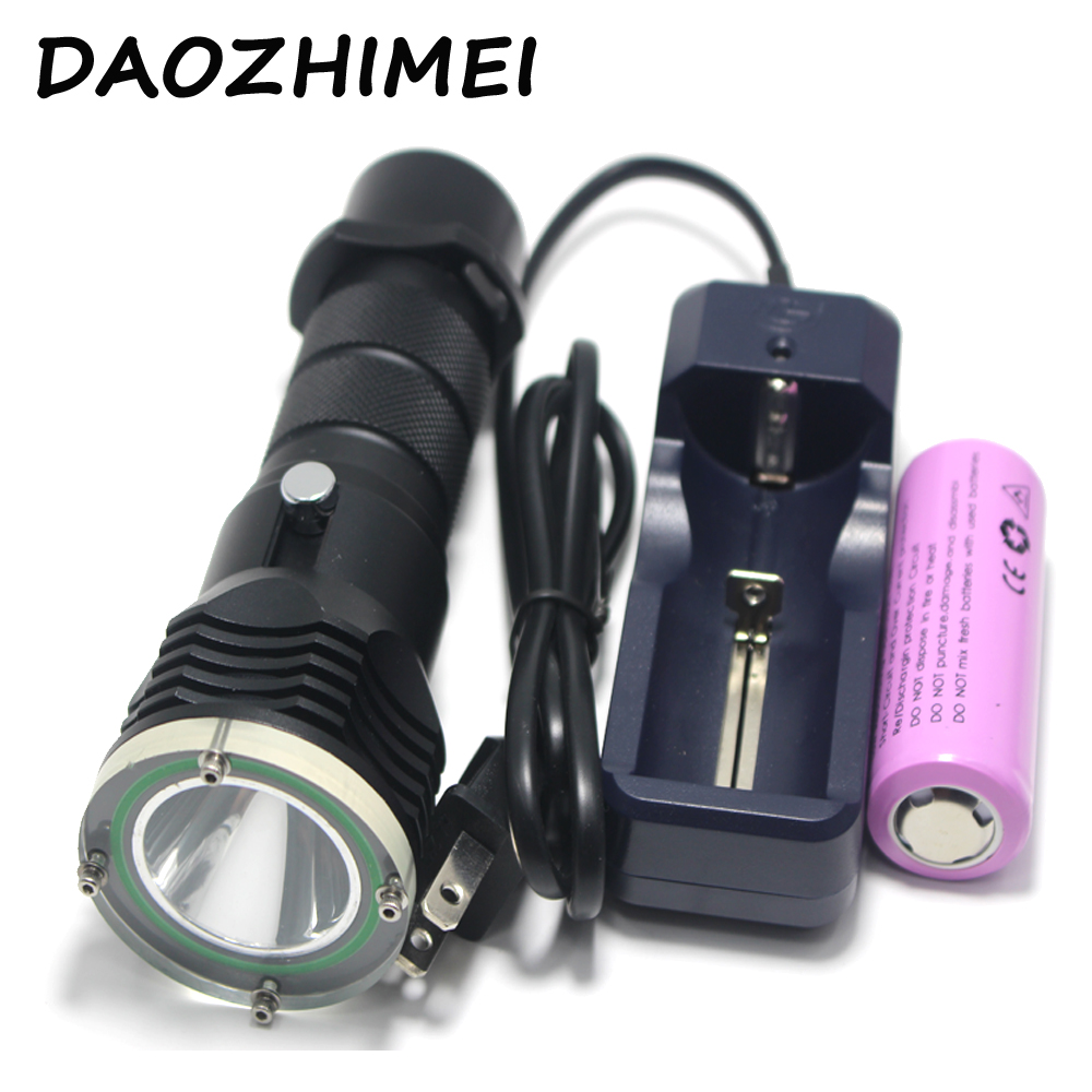 5000 Lumen XML L2 LED 100 meters Underwater Diving diver 18650 OR 26650 Flashlight Torch Light Lamp Waterproof 4 xml l2 led diving flashlight torch 18650 26650 lantern underwater professional dive torch waterproof diver lamp light