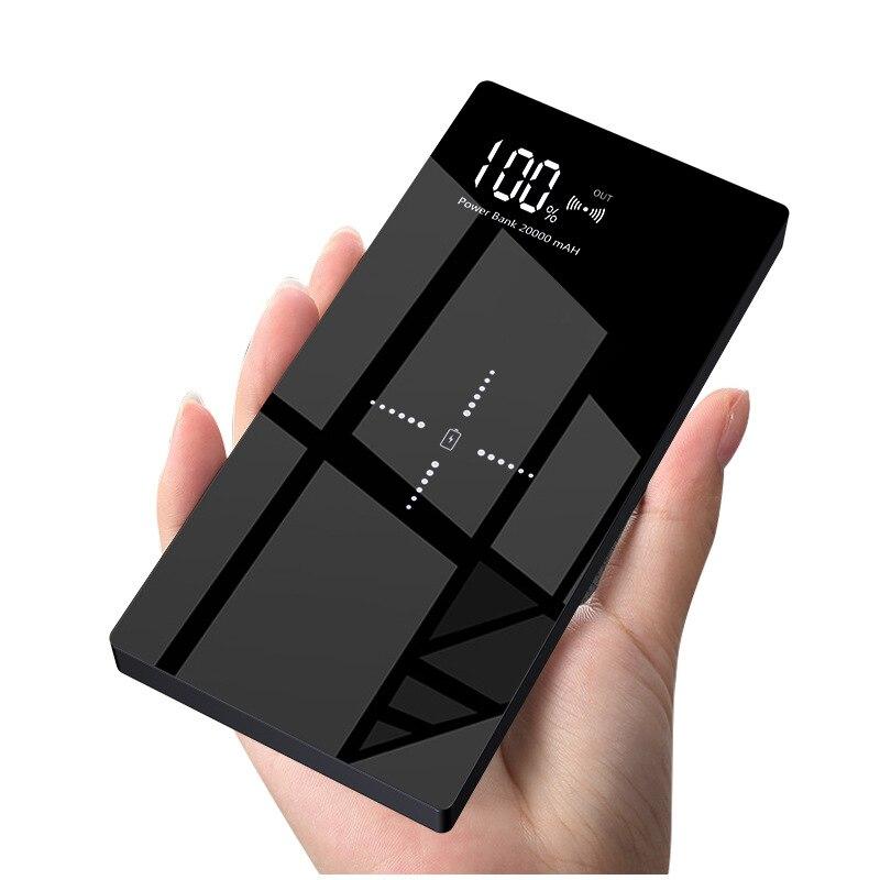 Qi batterie externe sans fil 20000 mAh LCD powerbank batterie externe chargeur Portable batterie portable pour iphone x xiaomi mi8