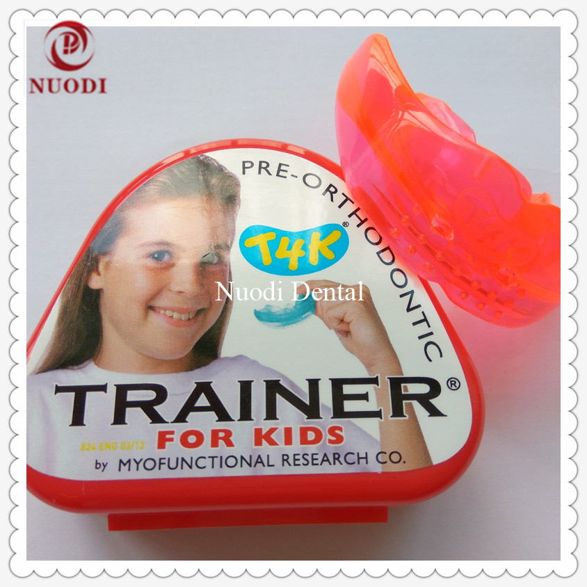 T4K Teeth Trainer appliance/ T4K Dental Orthodontic Brace/Kids pre-orthodontic trainer T4K deep bite/MRC Trainer T4K t4k teeth orthodontic trainer made in australia phase 2 red color