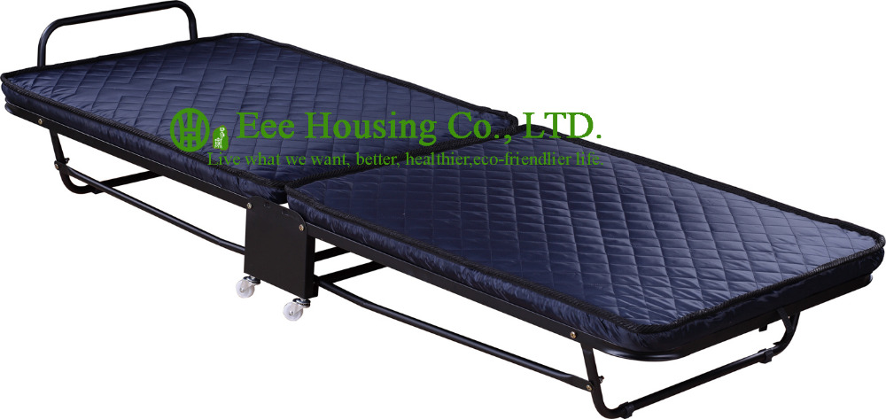 2016 Hotsale Hotel Extra Folding Bed,6cm Mattress Beds For Hotel Guest Room Single Size Roll Away Folding Hotel Extra Bed