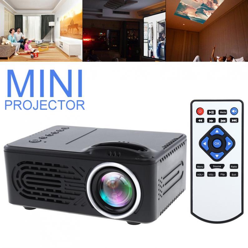 RD814 haute qualité Mini HD Portable LED Home hold projecteur Support 80 pouces grand écran Projection avec télécommande pour la maison