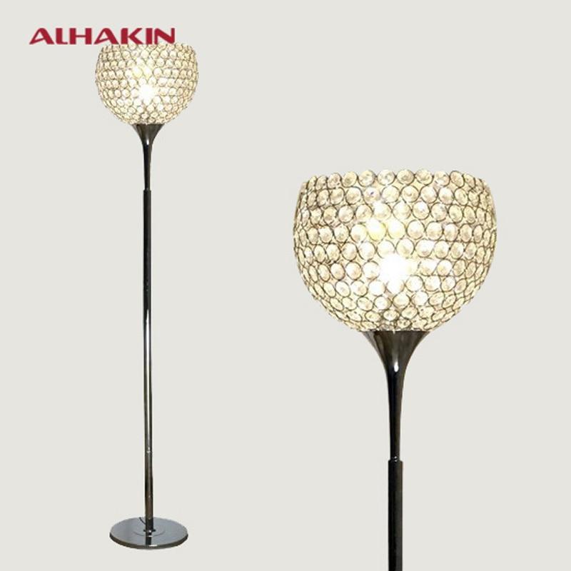 modern led remote control floor lamp k9 crystal iron floor light. Black Bedroom Furniture Sets. Home Design Ideas