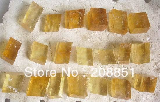 20 Pieces Natural Golden Yellow Calcite Crystal original stones China Wholesales Price Free Shipping
