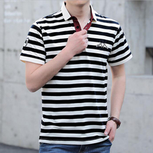 2019 new men polo shirt High quality brand cotton striped Business casual Branded clothing