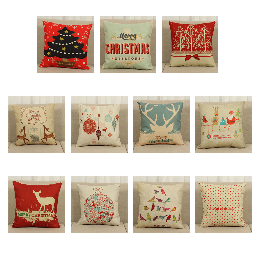 Candles & Holders Warm Cushion Case Christmas Series Cotton Linen Pillow Cover New Arrival A Great Variety Of Goods