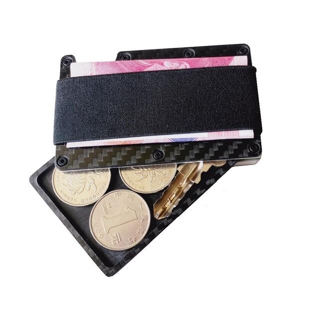 3fcdeb2d6163a0 2017 Fashion Lucido Twill RFID-bloccante Anti-magnetico In Fibra di  Carbonio Porta Carte
