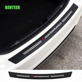 Carbon fiber power performance M car rear bumper sticker for bmw E34 E36 E60 E90 E46 E39 E70 F10 F20 F30 X5 X6