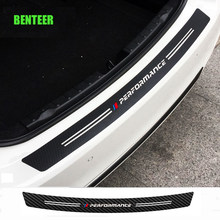Carbon fiber power performance M car rear bumper sticker for bmw E34 E36 E60 E90 E46 E39 E70 F10 F20 F30 X5 X6 X1(China)