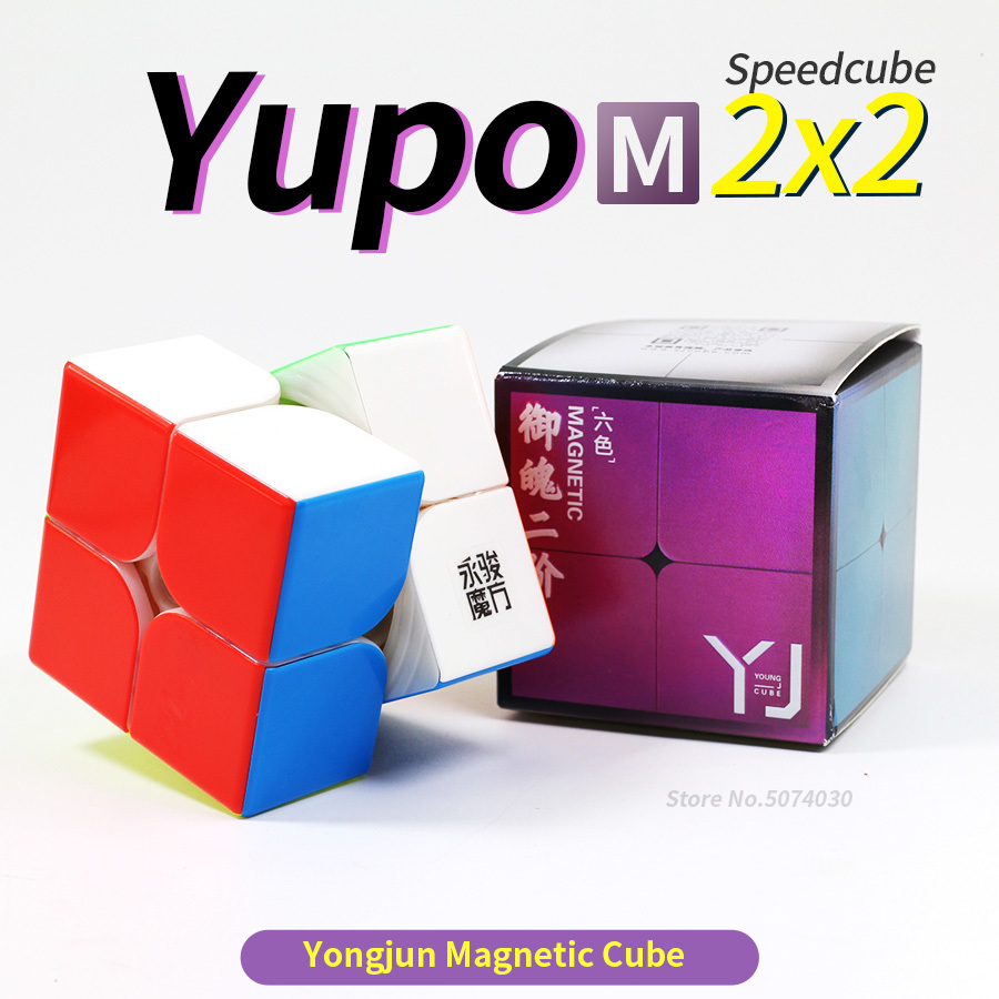 Yongjun Yupo 2x2x2 Magnetic Magic Seed Cube Stickerless Puzzle Cube Proffesional 2x2 Cubo Funny Educational Toys For Children