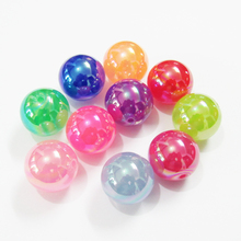 Atacado mais novo 12mm 500 pçs/saco, 20mm 100 pçs/saco acrílico jelly ab chapeado contas