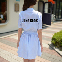 Vestido New Arrival Real Natural Long Dress 2017 Summer Bangtan Boys Dress Kpop News Bts Jungkook J hope Jumper Jimin Cotton