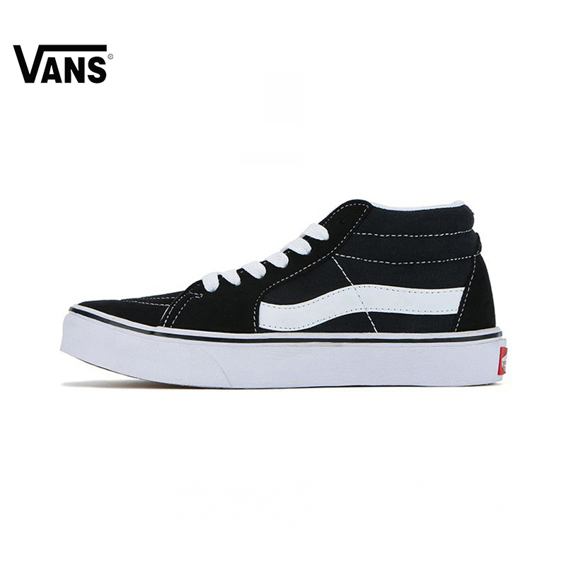 купить Original Vans Men&Women Shoes Black and White Colour SK8 MID Skateboarding Shoes Sport Shoes Classic VANS Mid-high Sneakers по цене 4319.16 рублей