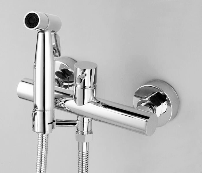 Cold and Hot Bidet Bathroom Shower Toilet Jet Cleaner Portable Bidet Shower Spray Brass Single Handle Wall Mount Faucet BD997, цена и фото