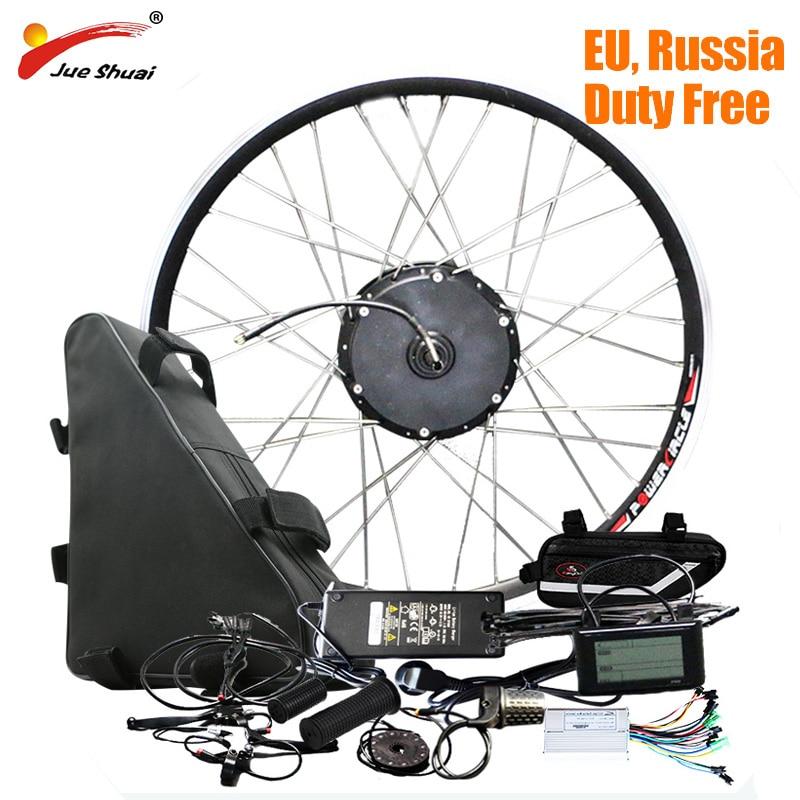 JS 48V 20ah Battery 48V 500W Electric Bike Conversion Kit with Battery  Brushless Hub Motor Wheel bicicleta electrica E-bike Kit