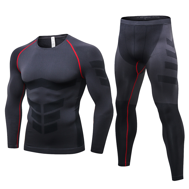 Winter Sports United Yuerlian 2017 Compression Gym Tracksuit Men Shirt Pantsuit Fitness Tight Sport Suit Polyester Running Set Demix Mens Sportswear